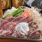 自家製のタレに付け込んだこだわりのラム肉とハツが味わえる『ジンギスカンセット』