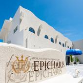 地中海リゾート気分を演出する広々とした明るい店内と外観