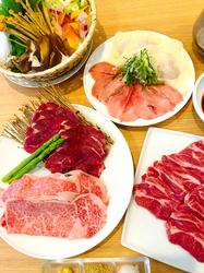 当店でしか召し上がれないラムしゃぶ(羊の肩ロース、道産羊肉)。羊そのものの美味しさを堪能して頂けます。
