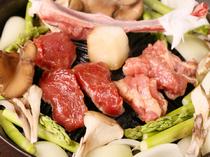 新鮮なラム肉なので、焼き過ぎずに柔らかくて美味しい状態で!
