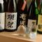 日本全国から選りすぐった、珍しい日本酒のラインナップ