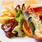 肉と魚の両方を堪能できる、贅沢な『チキン&ロブスター』