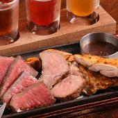 道産のおいしい肉をじっくり焼いた『炭焼き道産3種盛り合わせ』