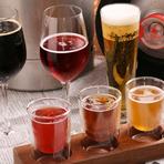 登別の『青鬼ピルスナー』やニセコの『残照ペールエール』『空知ヴァイツェン』など地元北海道をはじめ、日本や世界のクラフトビールを鮮度抜群な樽生ビールで提供。飲み比べも人気です。