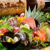 新鮮な海の幸を贅沢に『鮮魚の豪華五点盛り合せ』