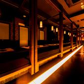各種ご宴会に最適な、扉付きの個室空間を完備