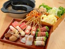 串でいただく美味しい食材の組み合わせが楽しい『串しゃぶ』