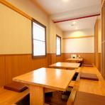 座敷は最大20名様まで収容可能で、貸切も相談に応じてもらえます。宴会向けのコースもあり、焼き鳥に良く合うお酒も種類豊富です。人数や予算、お好みなど詳細は店舗にお問い合わせを。