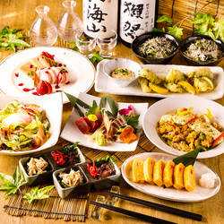 愛知県のブランド地鶏である『錦爽どり』をふんだんに使用した大人気宴会コース