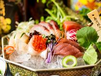 鮮魚の豪華五点盛り合せ