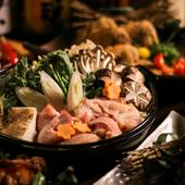 名古屋コーチンを楽しめる『3時間飲み放題付 料理8品 柚葉コース』