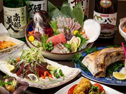 最大3時間飲み放題付!!海鮮尽くし料理のちょっと贅沢なプランとなります。