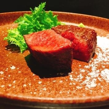 ◇尾崎牛と薪焼き九州産牛赤身の贅沢コース