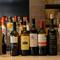 種類豊富なワインで乾杯。料理を際立たせる銘酒が揃う