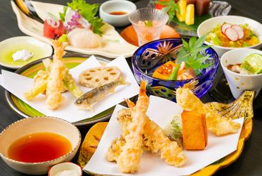 上品な揚げたての天ぷらをコースで堪能『天ぷらコース』