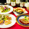 各々のプロが吟味する、旬菜や旬魚、そして国産馬肉