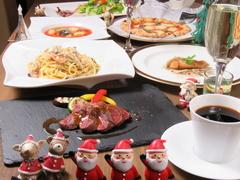 女子会やママ会、飲み会に嬉しい税込3500円!前菜からグリル、石窯ピザや本格パスタまで♪
