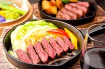ワインと合わせたい! アツアツの『エゾ鹿肉のステーキ』