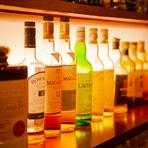 ウイスキー好きには堪らない種類豊富なラインナップ