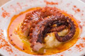 柔らかな食感に驚く『タコのグリルとマッシュポテト ガリシア風』