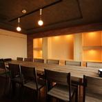 最大32名までの宴会に利用できる、完全個室を完備!