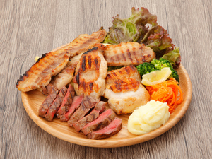 ワイルド肉盛りプレート