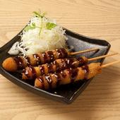 食べやすいサイズについつい手が伸びる。八丁味噌のバランスが絶妙の『味噌串カツ』