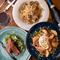 「料理3皿&ワイン」2人の軽いディナーでのおすすめの一例