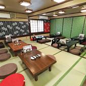 30名から45名程度の宴会が可能な、ゆったりスペースの個室