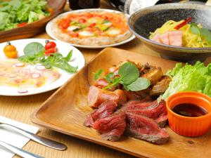 石巻の食材を多彩なメニューで味わえる「コース料理」