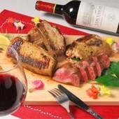 是空の人気コース『肉居酒屋コース』スペアリブや牛タンステーキ、肉料理4品と120分飲み放題付!