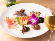 ワインやお酒と共に!金沢の海の幸・山の幸を一皿にした『金澤前菜七種盛り合わせ』