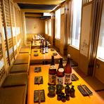 ◆100名まで対応可能な完全個室を備え接待や宴会にもおすすめ◆