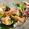 彩り華やかで、女性に人気の前菜『野菜づくし会席』