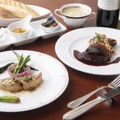 2ヶ月毎に季節食材でメニューを構成『ミニマムフレンチコース』