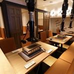 夜景個室など、デートや記念日にも最適な個室を完備