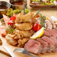 お得な飲み放題付☆忘年会等各種飲み会に♪豪快な肉バル料理を豊富にご用意!