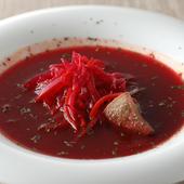 柔らかく煮込んだ牛タン入り『GODUNOV厳選本店の味 牛タンのボルシチ』