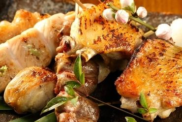 美桜鶏の魅力と美味しさを堪能『国産美桜鶏の串焼き 五本盛り合わせ』