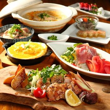 旬の食材を詰め込んだ『椿-TSUBAKI-コース』3H飲み放題+全7品
