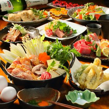 自慢の鶏×美酒『旬-SHUN-コース』 3h飲放+7品 3480円