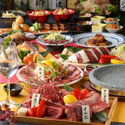 黒毛和牛石焼きや牛レアカツフライなど肉の旨味を様々な形でお楽しみ頂けます。宴会や接待にも是非。