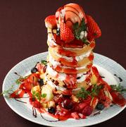 パンケーキの高さは頼んでからのお楽しみ!