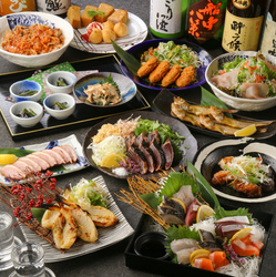 獺祭を含む24種の日本酒が通常の飲み放題にプラスされた日本酒好きにはたまらないコース◎日本酒湯豆腐鍋有