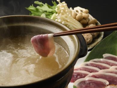店伝統のおいしさ『京鴨ロースしゃぶしゃぶ鍋』