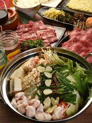 寒い季節に暖かいモツ鍋と大好きなお肉が一緒にご官能できます。