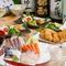 旬魚や新鮮野菜、日本酒は宮城県産を積極的に扱う