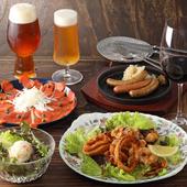 クラフトビール飲み放題付お食事コース5,000円!
