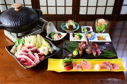 """石川県羽咋市ブランド""""のとしし""""を各部位で味わえる特撰コースです。"""