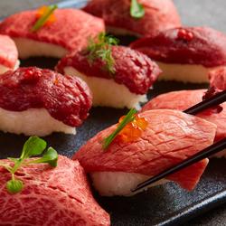 メインはSNSで話題の韓国グルメ、パネチキンが付いて超お得☆フォトジェニックで美味しい肉寿司まで♪